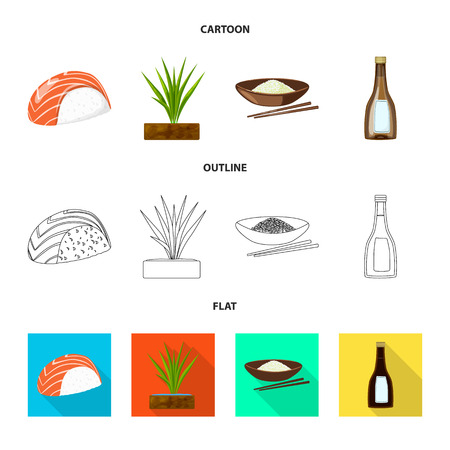 Vector illustration of crop and ecological sign. Set of crop and cooking vector icon for stock. Illusztráció