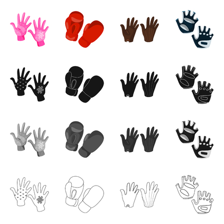 Isolated object of silhouette and safety icon. Collection of silhouette and comfort vector icon for stock.