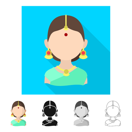 Vector illustration of imitator and resident. Collection of imitator and culture stock vector illustration.