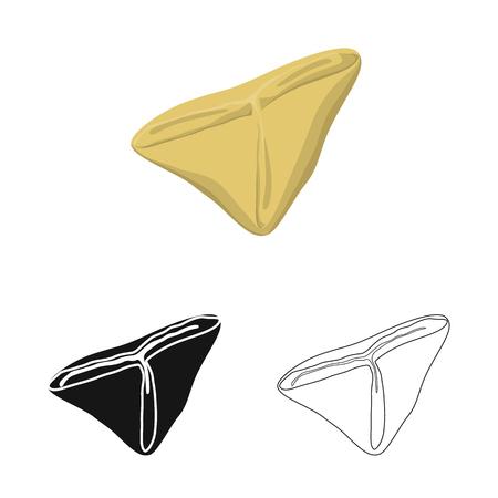 Vector illustration of ravioli  and pierogi icon. Set of ravioli  and pelmeni stock symbol for web.
