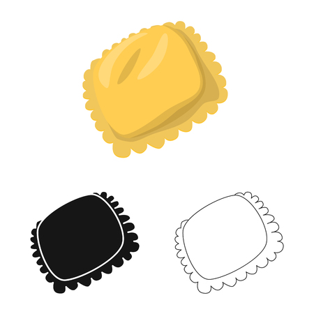 Isolated object of manti  and Asia icon. Collection of manti  and meat stock vector illustration.