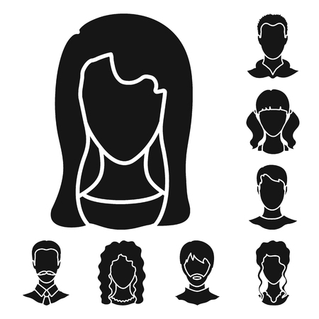 Vector illustration of character and profile sign. Collection of character and dummy stock vector illustration. Illustration