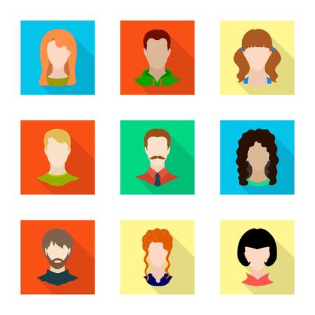 Illustration vectorielle de l'icône avatar et mannequin. Ensemble d'icône de vecteur d'avatar et de figure pour le stock. Vecteurs