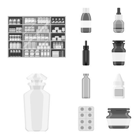 Vector illustration of medicine and health logo. Set of medicine and help stock symbol for web.