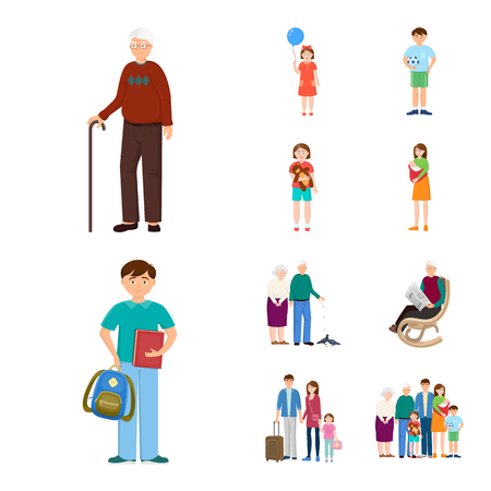 Vector design of family  and people sign. Collection of family  and avatar  stock symbol for web.