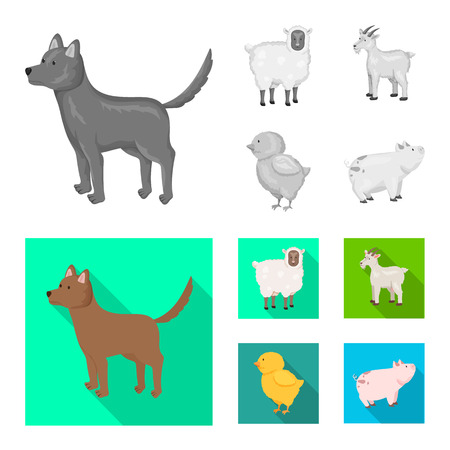 Isolated object of breeding and kitchen  symbol. Set of breeding and organic  vector icon for stock. Illustration
