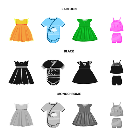 Vector design of fashion and garment symbol. Set of fashion and cotton stock vector illustration. Stock Vector - 124354723
