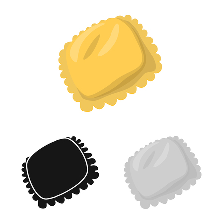 Isolated object of manti  and Asia icon. Set of manti  and meat stock vector illustration.