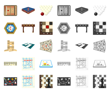 Board game cartoon,mono icons in set collection for design. Game and entertainment vector symbol stock web illustration. Illustration