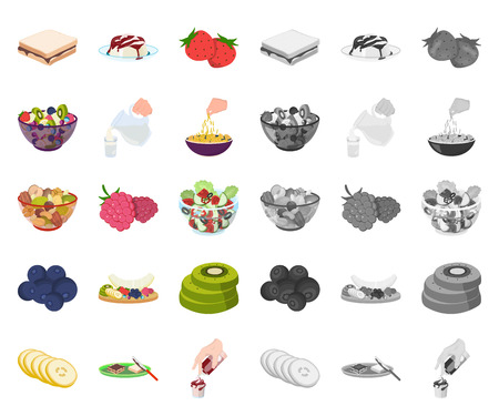 Dessert fragrant cartoon,mono icons in set collection for design. Food and sweetness vector symbol stock web illustration. Stock Illustratie