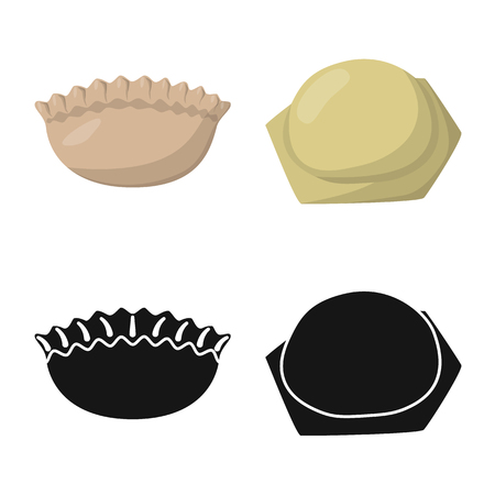 Vector illustration of products  and cooking icon. Set of products  and appetizer stock vector illustration. Ilustração