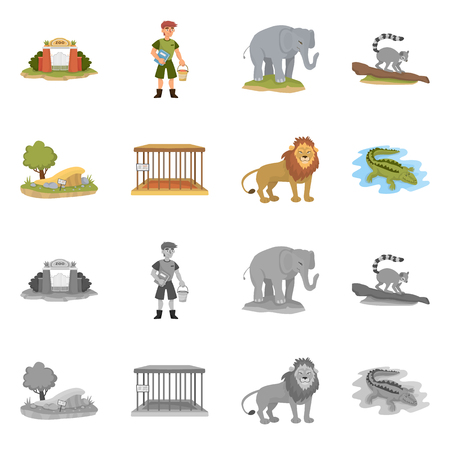Isolated object of nature  and fun  symbol. Set of nature  and entertainment stock vector illustration.