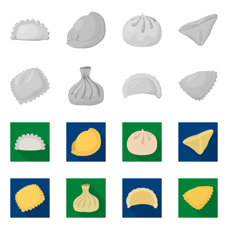 Vector illustration of products  and cooking . Set of products  and appetizer stock symbol for web.