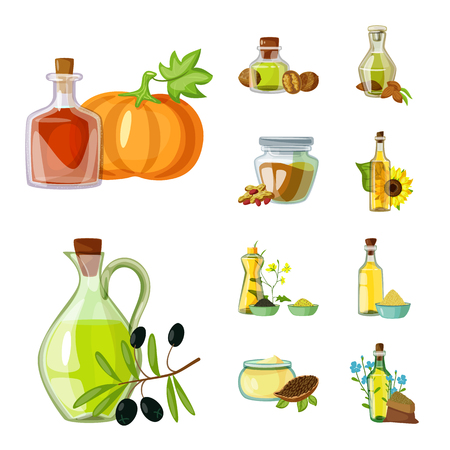 Isolated object of bottle and glass  symbol. Set of bottle and agriculture vector icon for stock.