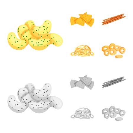 Vector illustration of Oktoberfest and bar symbol. Collection of Oktoberfest and cooking stock symbol for web.