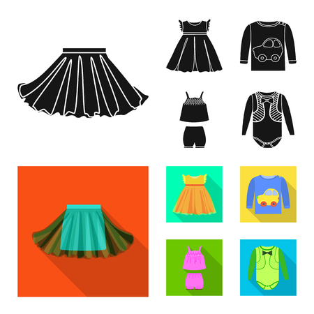 Vector illustration of fashion and garment logo. Collection of fashion and cotton stock vector illustration.