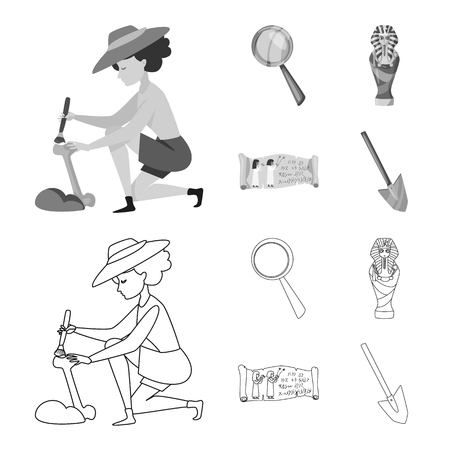 Isolated object of story and items . Set of story and attributes  stock vector illustration.