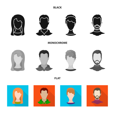 Vector illustration of professional and photo icon. Collection of professional and profile stock symbol for web.