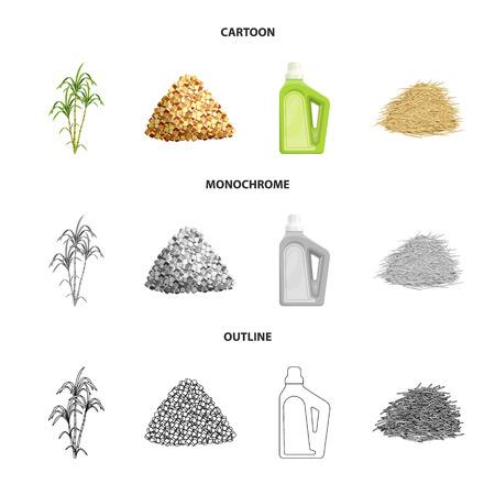 Conception vectorielle du logo de la ferme et de l'agriculture. Collection de symboles boursiers agricoles et technologiques pour le web. Logo