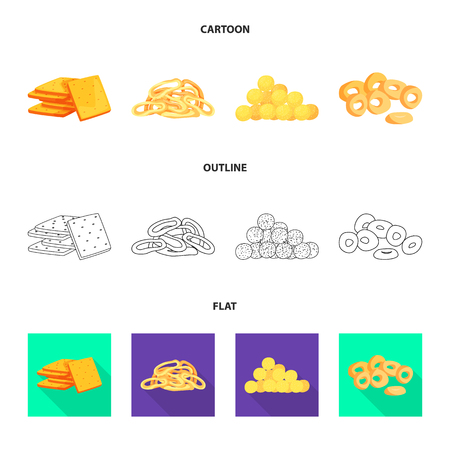 Vector illustration of Oktoberfest and bar sign. Set of Oktoberfest and cooking stock vector illustration.