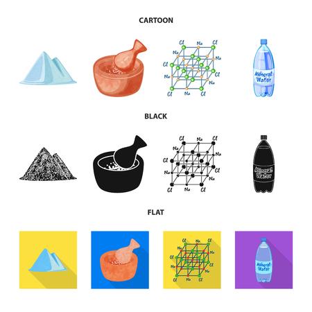 Vector illustration of cooking and sea logo. Set of cooking and baking   stock vector illustration. Ilustração