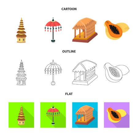 Vector illustration of  and travel symbol. Set of  and traditional stock vector illustration. Ilustracja
