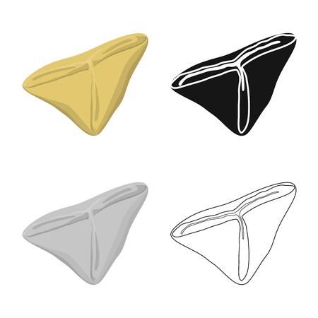 Isolated object of ravioli  and pierogi icon. Set of ravioli  and pelmeni stock vector illustration. Illustration