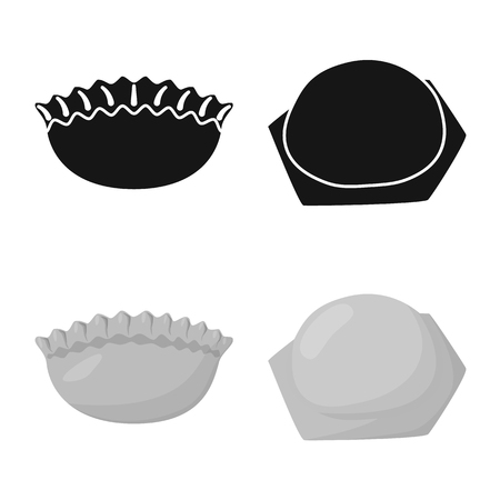 Vector illustration of products  and cooking icon. Collection of products  and appetizer stock vector illustration. Reklamní fotografie - 119103675