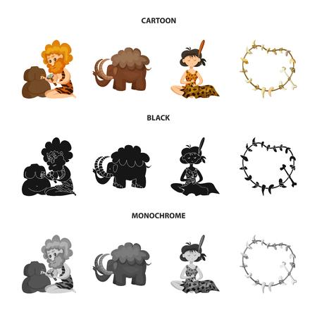 Vector design of evolution and prehistory logo. Collection of evolution and development vector icon for stock.