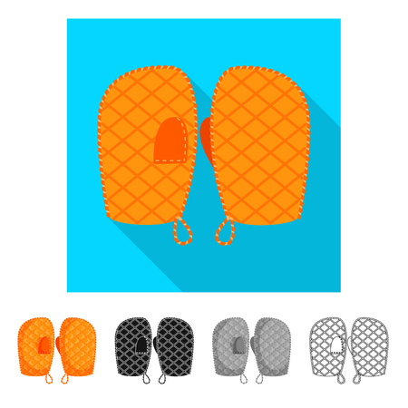 Vector illustration of silhouette and safety icon. Collection of silhouette and comfort stock vector illustration. Stock Illustratie