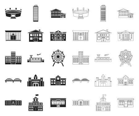 Building repair black,outline icons in set collection for design.Building material and tools vector symbol stock web illustration.