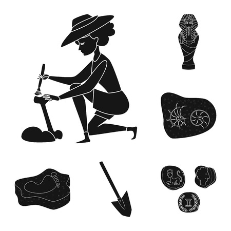 Vector illustration of museum and attributes  symbol. Collection of museum and historical stock vector illustration. Vectores