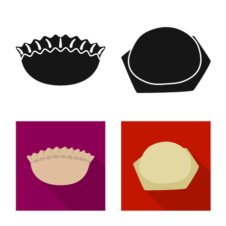 Vector illustration of products  and cooking icon. Collection of products  and appetizer stock vector illustration. Ilustração