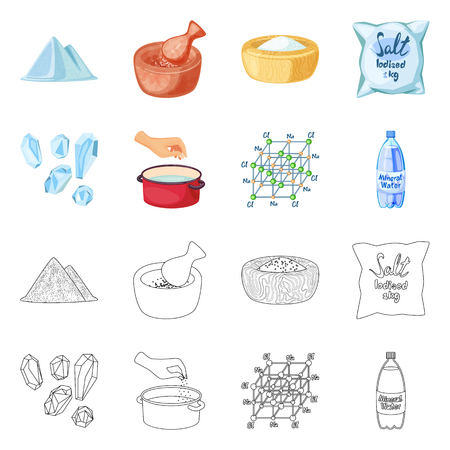 Vector illustration of cooking and sea icon. Collection of cooking and baking   vector icon for stock. 일러스트