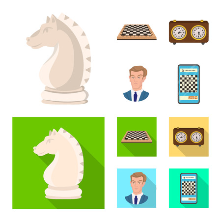 Vector design of checkmate and thin icon. Collection of checkmate and target vector icon for stock.