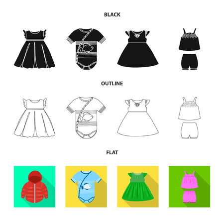 Isolated object of fashion and garment symbol. Collection of fashion and cotton vector icon for stock.