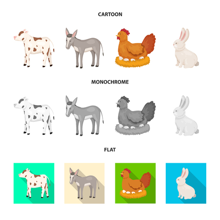 Vector design of breeding and kitchen  symbol. Collection of breeding and organic  stock vector illustration.  イラスト・ベクター素材