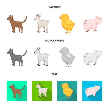 Vector design of breeding and kitchen  symbol. Set of breeding and organic  vector icon for stock. Illustration