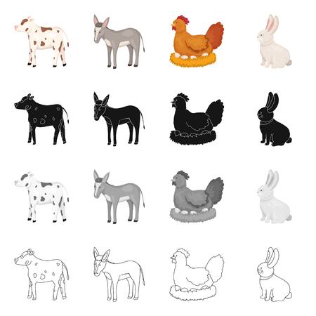 Vector illustration of breeding and kitchen  sign. Set of breeding and organic  stock vector illustration.