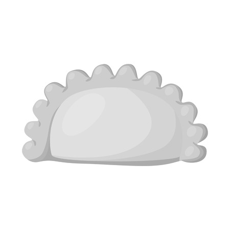 Isolated object of pierogi and Russian symbol. Collection of pierogi and breakfast  stock symbol for web.