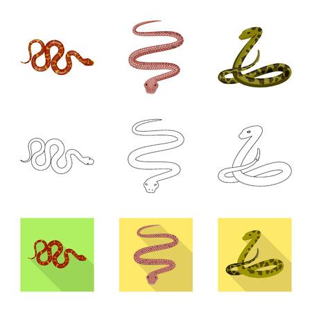 Objet isolé de mammifère et symbole de danger. Collection d'icônes vectorielles de mammifères et de médecine pour le stock.