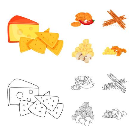Vector design of taste and seasonin symbol. Set of taste and organic   vector icon for stock. Vettoriali