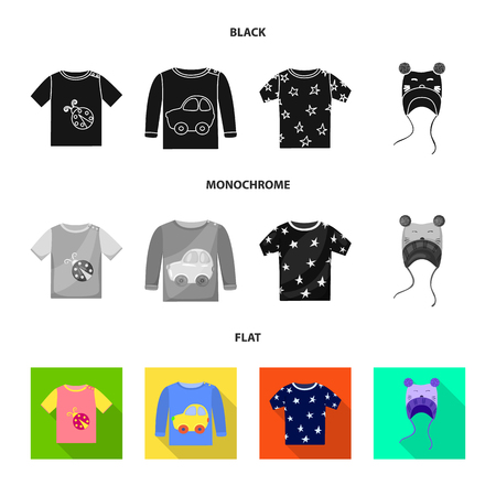Vector design of fashion and garment symbol. Collection of fashion and cotton vector icon for stock. 矢量图像