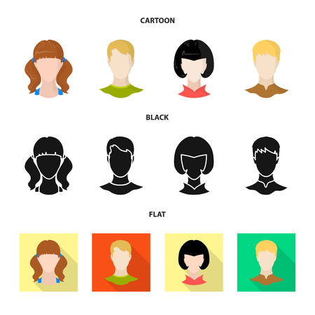 Isolated object of professional and photo icon. Set of professional and profile vector icon for stock.