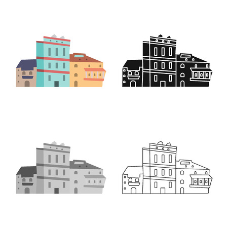 Vector design of architecture and home icon. Collection of architecture and Georgia stock symbol for web.