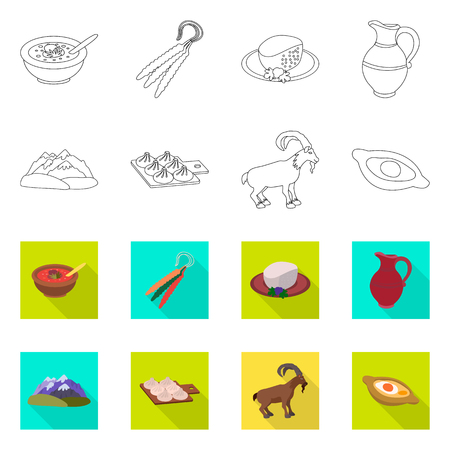 Isolated object of culture and sightseeing symbol. Collection of culture and originality vector icon for stock. 向量圖像