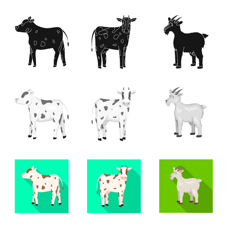 Vector design of breeding and kitchen  sign. Set of breeding and organic  stock symbol for web. Ilustração