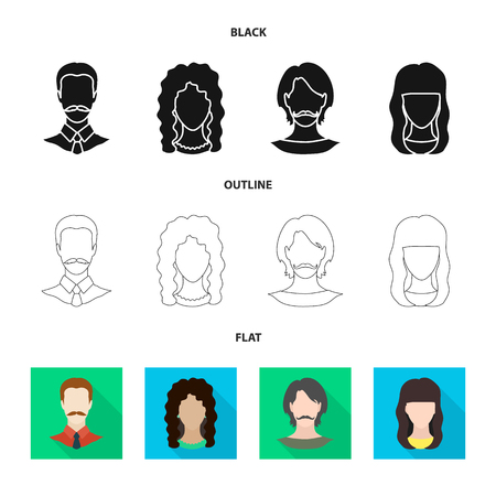 Isolated object of professional and photo icon. Collection of professional and profile stock symbol for web. Illustration
