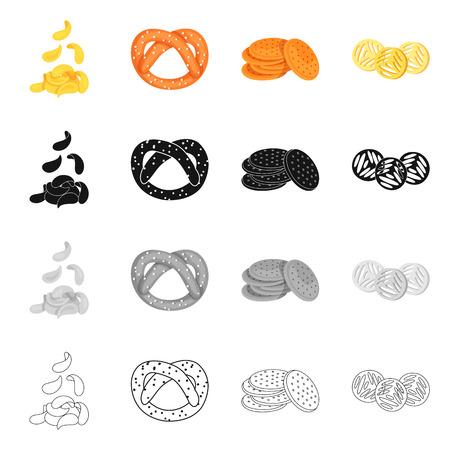 Vector design of Oktoberfest and bar symbol. Collection of Oktoberfest and cooking stock symbol for web.