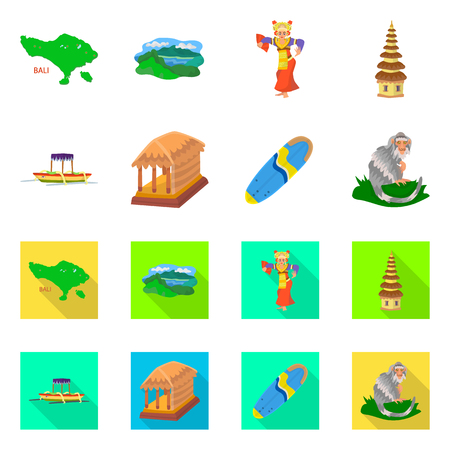 Isolated object of  and travel icon. Set of  and traditional vector icon for stock.